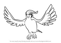 Learn How to Draw Pidgeot from Pokemon GO (Pokemon GO) Step by Step : Drawing Tutorials Baby Pokemon, Pokemon Go, Learn Drawing, Learn To Draw, Step By Step Drawing, Drawing Tutorials, Base, Drawings, Animals