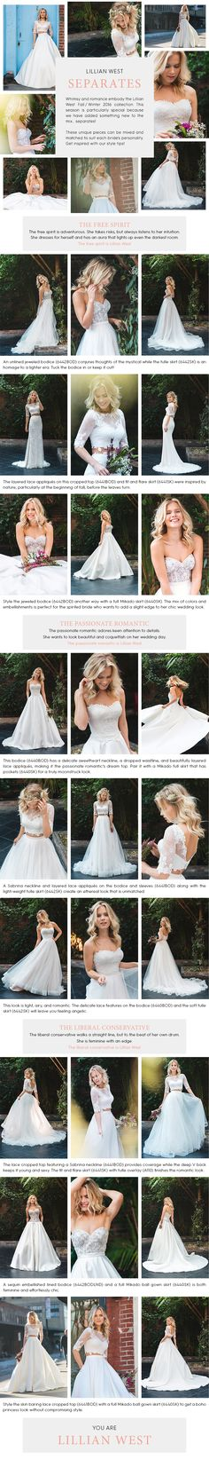 Lillian West Separates Collection Available at Ella Park Bridal | Newburgh, IN | 812.853.1800 |  Mix and Match