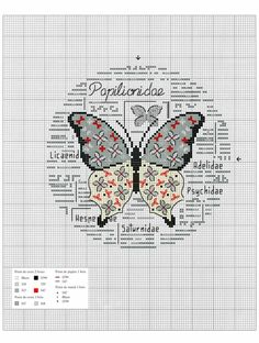 Фото из альбома «Oiseaux, papillons et petites betes au point de croix 2017 Butterfly Cross Stitch, Cross Stitch Bird, Cross Stitch Alphabet, Cross Stitch Animals, Cross Stitch Flowers, Cross Stitch Designs, Butterfly Pattern, Cross Stitching, Cross Stitch Embroidery