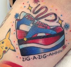 Spice Girls + Pokemon = is listed (or ranked) 22 on the list The Best Tattoos Inspired by Pop Culture 90s Tattoos, Cartoon Tattoos, Funny Tattoos, Sister Tattoos, Great Tattoos, Beautiful Tattoos, Girl Tattoos, Awesome Tattoos, Spice Girls