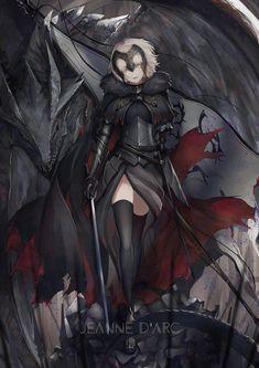 Fate Characters, Fantasy Characters, Minor Character, Character Art, Fantasy Character Design, Character Concept, Dark Fantasy, Jeanne Alter, Naruto Minato