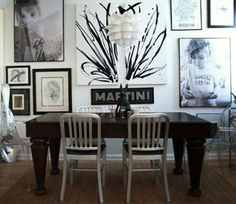 Black & White Kid Portraits in the Dining Room
