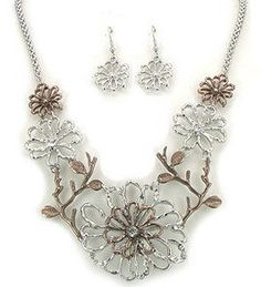 Nora necklace/earrings set- $14.60- 10% off with code 0512! Free shipping! www.facebook.com/meganscentsofstyle