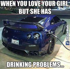 a nissan Car Jokes, Funny Car Memes, Car Humor, Truck Memes, Truck Quotes, R35 Gtr, Import Cars, Nissan Gt, Sweet Cars
