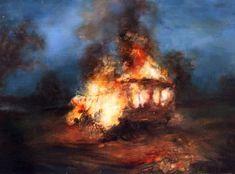 "Elisha Enfield  ""5477""  12x7 inches  Oil on board http://www.elishaenfield.co.uk/ Caravan Painting"