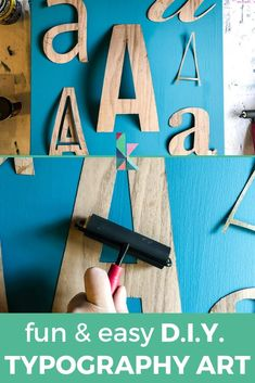 Wall art doesn't have to be expensive or complicated. This DIY wall art tutorial will teach you how to make your own, modern DIY typography wall art in just a couple of hours. This DIY home decor project will make a big impact in any space in your home. #diyart #diywallart #typography #diyhomedecor