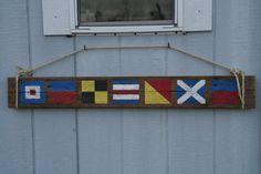 ".. nautical flags ""welcome"" .."