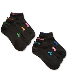 Intense workouts are no match for the moisture-wicking, odor-neutralizing, arch-supporting comfort of these Under Armour no-show socks. Each pack contains 6 pairs. Under Armour Outfits, Under Armour Shoes, Under Armour Women, Sport Outfits, Cute Outfits, No Show Socks, Athletic Wear, So Little Time, Fit Women