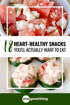 In honor of American Heart Month, I'm sharing 18 heart healthy snacks under 200 calories! These tasty snacks make it easy to avoid going overboard. Healthy Snacks 18 Heart Healthy Snacks You'll Actually Want To Eat Heart Healthy Snacks, Healthy Dips, Healthy Appetizers, Healthy Options, Healthy Treats, Yummy Snacks, Diabetic Snacks, Kid Snacks, Snack Recipes
