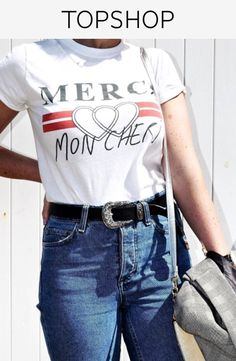 Add character to your t-shirt collection with our fun 'Merci' design. Featuring a crew neckline and short sleeves, it has a classic laid-back fit.