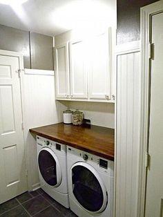 Mudroom/Laundry Room Update. Looks tiny like my laundry room