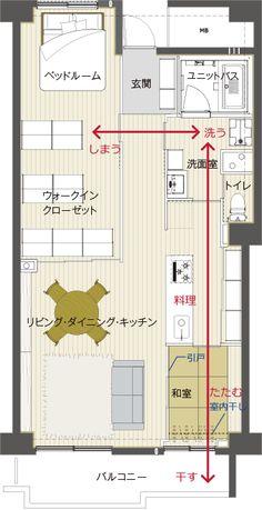 New Apartment House Plans Ideas Ideas Apartment Entrance, Apartment Layout, Apartment Interior Design, House Entrance, Apartment Ideas, Bedroom Floor Plans, House Floor Plans, Japan Apartment, Mansion Plans