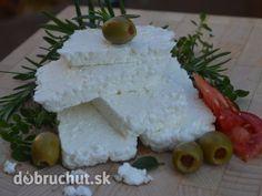 Fotorecept: Domáci balkánsky syr Feta, Food And Drink, Dairy, Milk, Butter, Cheese, Homemade, Cake, Recipes