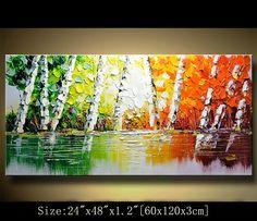 Original cuchillo de paleta de pintura abstracta, moderna texturados pintura, paisaje pintura de Chen Tamaño: x1.2 24 x 48 [60x120x3cm] Estirar espesor: 1,2(3cm) Enmarcado / estirar (aliste para colgar) Las partes están libres de grapas y son pintados de negro. Está listo para colgar. Detalles de pago: preferimos paypal Recuerde dejar su número de teléfono en el campo de notas Envío y embalaje a cargo: Por EMS a todo el mundo Paquetes serán enviados hacia fuera dentro de 1-3 días labo...