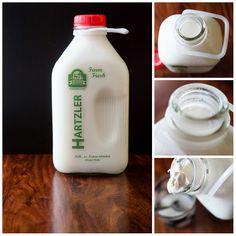 My favorite milk...I can't even bring myself to return the bottles--i love them so!  hEArT ohio | Hartzler Milk