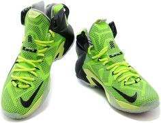 huge discount 3a1fc 8ccac Nike LeBron 12 Neon Green Black-Silver For Sale Online1 Kobe Shoes, Air  Jordan