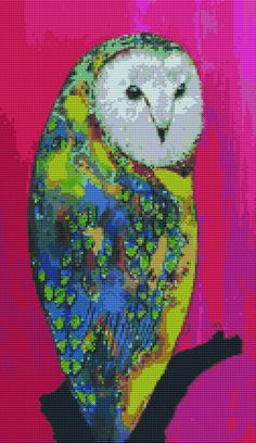 Modern Cross Stitch by Clara Nilles 'Owl On by GeckoRouge on Etsy