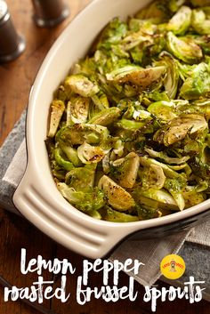 Sweet lemon flavor pairs perfectly with pepper in this oven-roasted Brussels sprouts recipe.
