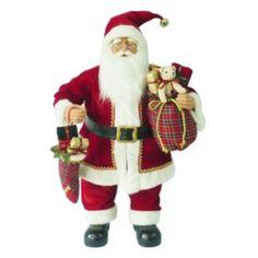 St. Nicholas Square Standing Santa Christmas Decor