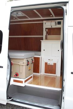 Dennis Vagt uploaded this image to '2013 Nissan NV Camper Build'.  -- Love the paneling and floor on this!