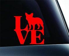 LOVE French Bulldog Dog Symbol Decal Funny Car Truck Sticker Window (Red) ExpressDecor http://www.amazon.com/dp/B00RW5K2PY/ref=cm_sw_r_pi_dp_dyfRub06G3NPC