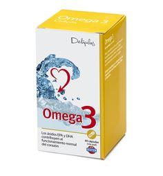 OMEGA 3 Alto contenido en ácidos grasos Omega-3.   Los Ácidos eicosapentaenoico (EPA) y docosahexaenoico (DHA) contribuyen al funcionamiento normal del corazón.  El efecto beneficioso se obtiene con una ingesta diaria de 250 mg de EPA y DHA (2 cápsulas). Bote de 60 Cápsulas.