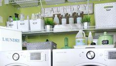 Lavanderia bonita e organizada