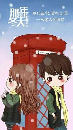 Cute Couple Drawings, Cute Couple Cartoon, Cute Love Cartoons, Cute Cartoon, Cute Drawings, Korean Illustration, Kawaii Illustration, Couple Illustration, Cool Anime Girl