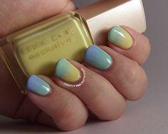 Ithinity Beauty ~ Nail Art Blog: A Light Summery Gradient