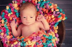 Awesome knit pompom blanket - great for photography shots