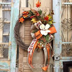 Fall Wreath, Wreath, Fall Decor, Door Decor, Holiday Wreath by RcollectionandCo on Etsy https://www.etsy.com/listing/464763474/fall-wreath-wreath-fall-decor-door-decor