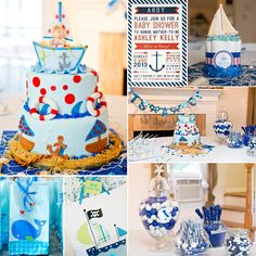 Ashley's nautical themed baby shower.  http://www.thephotoginc.blogspot.com/2013/08/sweet-nautical-themed-baby-shower.html