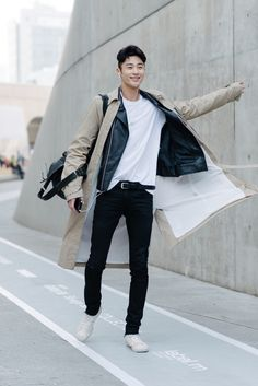 koreanmodel:Streetstyle: Byun Woo Seok at Fall 2015 Seoul Fashion Week shot by Alex Finch
