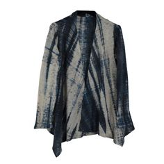 Doshi Kumo-ri Asymmetrical Jacket, Indigo, M – Santa Fe Weaving Gallery Shibori, Indigo, Kimono Top, Santa Fe, Pattern, Weaving, Jackets, Clothes, Gallery