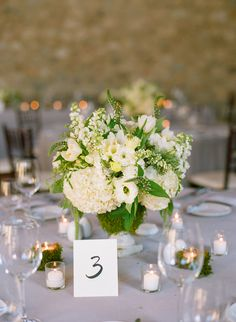 Cream Hydrangea and Poppy Arrangement | photography by http://www.msp-photography.com/