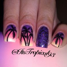 palm trees #summer nails