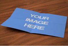 Folder A4 Paper On Wood Desk Mockup Template | ShareTemplates