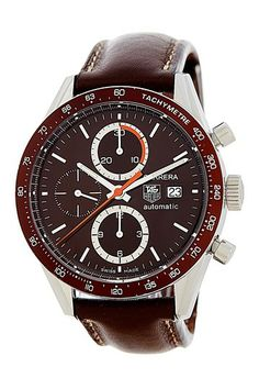 Tag Heuer Carrera 04 Chronograph Watch with Brown Leather strap
