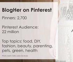 BlogHer Master Class: Harness the Power of Pinterest For Your Success (Class 1 of 3)