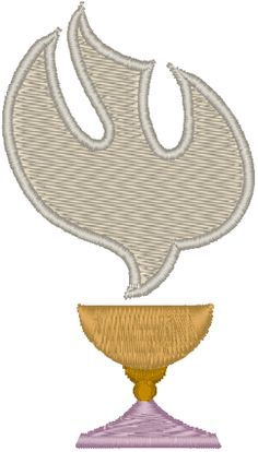 Dove & Chalice Embroidery Design. A simple yet beautiful design.