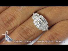 ER-0798 - 1.60 Carat H-SI3 Vintage Style Natural Round Diamond Engagement Ring 14k Gold