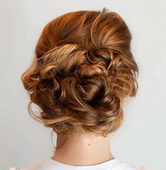 curly homecoming updo
