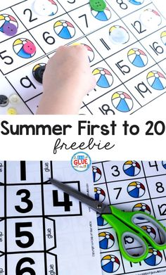 Your students will absolutely LOVE this Summer First to 20 game! #earlylearning #math