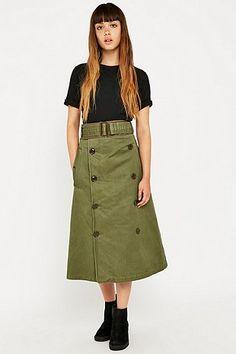 MHI by Maharishi Upcycled Trench Skirt