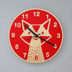 Fox Clock from Lisa Jones Studio