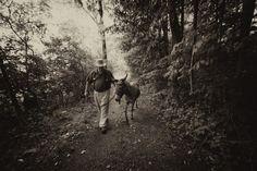Me And Simon, Two Asses On The Road: Donkey Therapy, Summer 2011.     Courtesy: Jon Katz. Washington County, N.Y. (USA)
