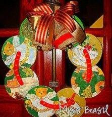 Adorno navide o con cd s reciclados con cd pinterest - Trabajos manuales navidenos ...