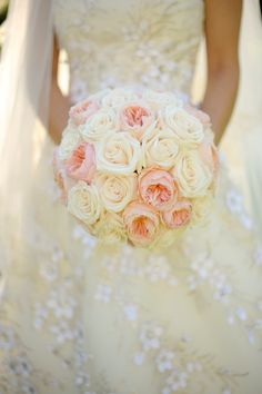Peonies and roses bouquet, but imagine the pink peonies as roses.