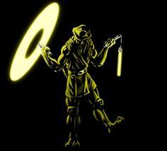 TMNT as Jedi Knights - Michaelangelo