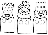 Three Kings finger puppets - Print onto card for extra strength Christmas Bible, Christmas Mood, Christmas Nativity, Christmas Colors, Holiday Fun, Christmas Activities, Christmas Projects, Christmas Cards Drawing, Finger Puppet Patterns